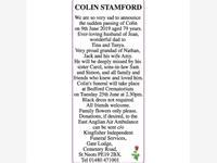 COLIN STAMFORD photo