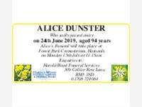 Alice Dunster photo
