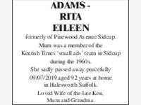 Adams - Rita Eileen photo