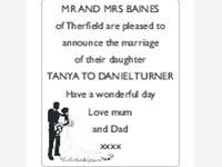 Tanya Baines and Daniel Turner photo