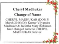 Cheryl Madhukar photo