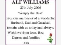 ALF WILLIAMS photo