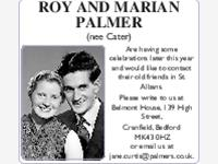 ROY AND MARIAN PALMER (nee Cater)  photo