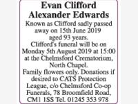 Evan Clifford Alexander Edwards known as Clifford photo