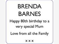 BRENDA BARNES photo