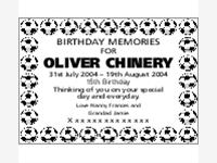 Oliver Chinery photo