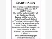 MARY HARDY photo