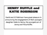 Henry Ruffle and Katie Robinson photo
