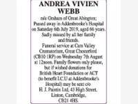 ANDREA VIVIEN WEBB photo