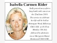Isabella Carmen Rider photo