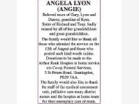 ANGELA LYON (ANGIE) photo