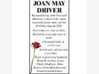 JOAN MAY DRIVER photo