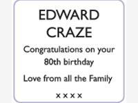 EDWARD CRAZE photo
