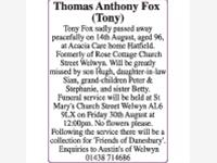 Thomas Anthony Fox (Tony) photo