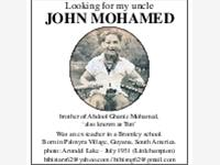 Looking for my uncle JOHN MOHAMED photo