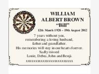 "WILLIAM ALBERT BROWN ""Bill"" photo"