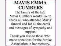MAVIS EMMA CUMBERS photo