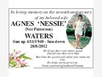 AGNES 'NESSIE' WATERS (Nee Patterson) photo