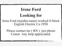 Irene Ford photo