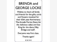 BRENDA and GEORGE LOCKE photo