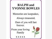 RALPH and YVONNE BOWLES photo