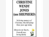 Christine Wendy Jones (nee Shepherd) photo