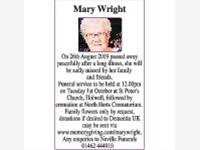 Mary Wright photo