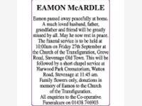 EAMON McARDLE photo