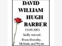 DAVID WILLIAM HUGH BARBER photo