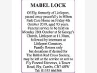 MABEL LOCK photo