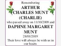 Arthur and Daphne Munt photo