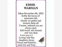 EDDIE WARMAN photo