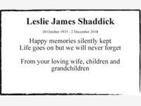 Leslie James Shaddick photo