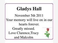 Gladys Hall photo