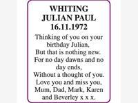 JULIAN PAUL WHITING photo