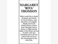 MARGARET 'RITA' THOMSON photo