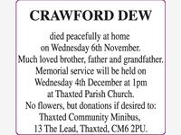 CRAWFORD DEW photo