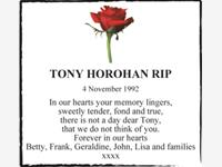 TONY HOROHAN RIP photo