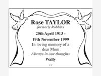 Rose Taylor formerly Robbins photo