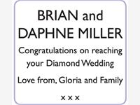 BRIAN and DAPHNE MILLER photo