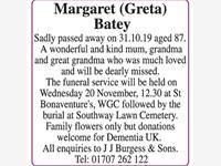Margaret (Greta) Batey photo