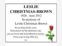 Leslie Christmas photo