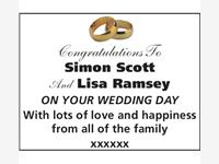 Simon Scott And Lisa Ramsey photo
