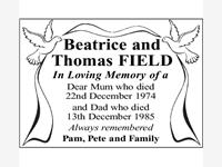 Beatrice and Thomas FIELD photo