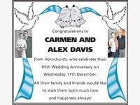 Carmen and Alex Davis photo