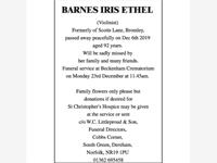 Barnes Iris Ethel photo