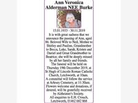 Ann Veronica Alderman NEE Burke photo