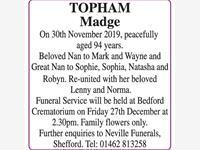 Madge Topham photo