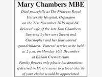 MARY CHAMBERS photo