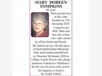 MARY  DOREEN TOMPKINS photo